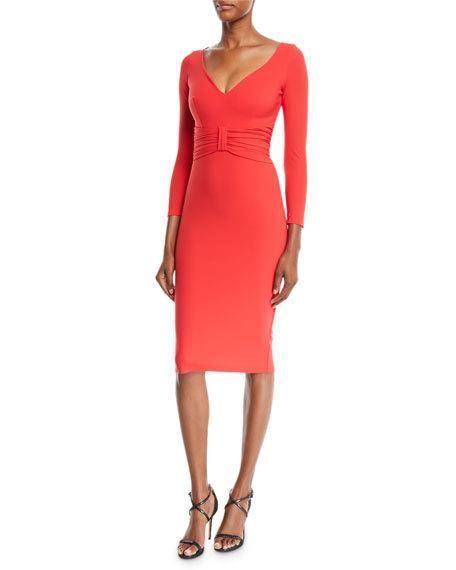 b570b7a5068416 Claudetta V-Neck Dress w/ Bow Front. Chiara Boni La Petite Robe ...