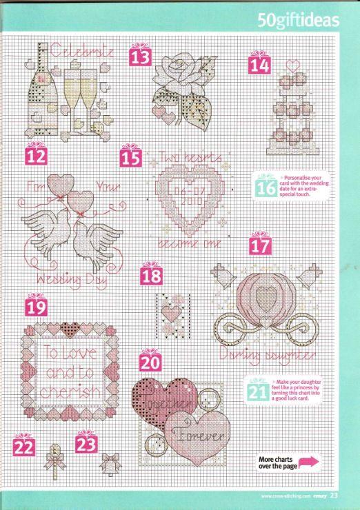 Celebrate Wedding Card for Victoria & Pete 2013 50 Wedding Gift Ideas Cross Stitch Crazy Issue 140