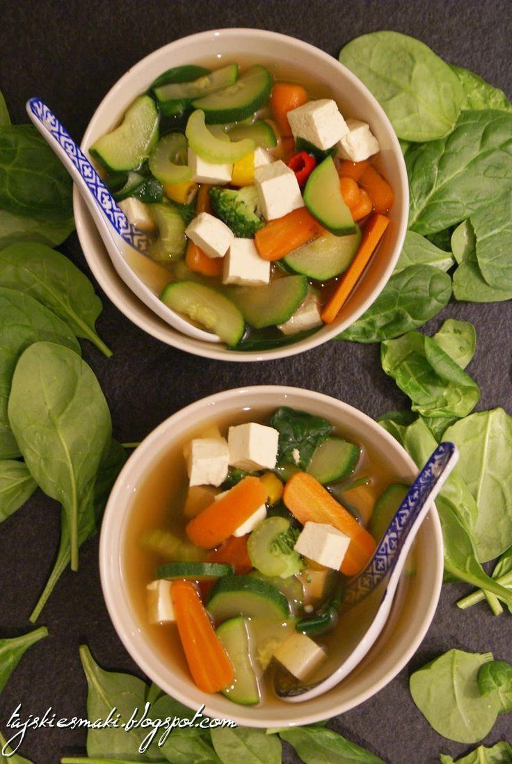 Wegańska zupa tajska/ Thai vegan soup