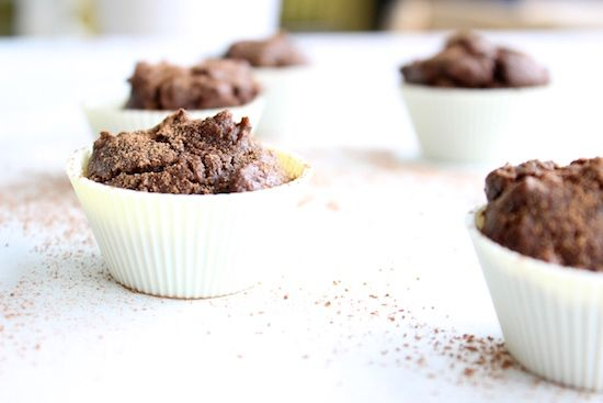 Need a healthy chocolate snack to kick cravings? Try this sugar-free recipe for Chocolate Protein Mini Muffins from The Fit Foodie.
