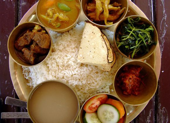 Great Food from Nepal: Dal Bhat (the tourist version), ,