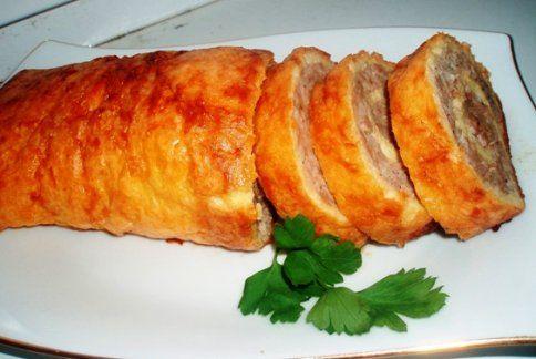 Яично-мясной рулет | Кулинарный сайт