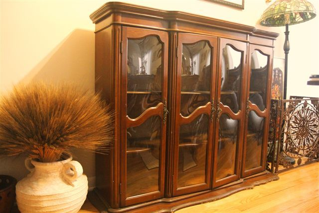 Antique China Hutch For Sale Cherry China Cabinet By