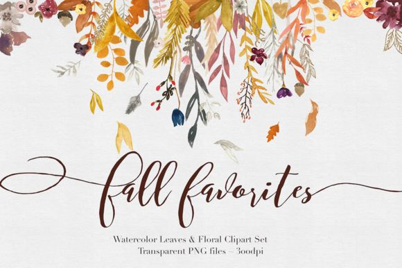 Posted by @newkoko2020 Fall Watercolor Clipart by The Autumn Rabbit on @creativemarket