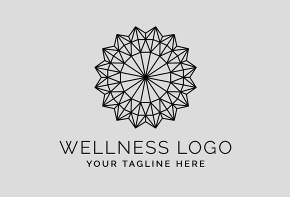 The Wellness Logo Template PSD by @Graphicsauthor