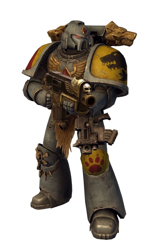 Armor designs from the Space Marine game. Space Wolves