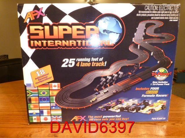 AFX Super International 4-Lane Mega G+ HO Slot Car Track Set w/Tri-Power - http://hobbies-toys.goshoppins.com/slot-cars/afx-super-international-4-lane-mega-g-ho-slot-car-track-set-wtri-power/