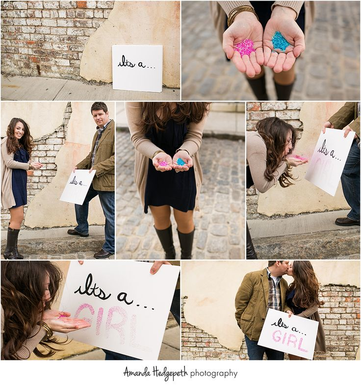 Glitter inspired gender reveal!     Downtown Richmond Virginia   www.amandahedgepe...