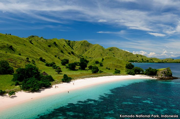 Komodo Island in Indonesia is one of seven places in the world with pink sand beaches. We would love to be lounging there now!