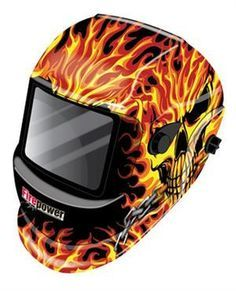 QualityToolsForLess.com - Firepower 1441-0088 Auto-Darkening Welding Helmet, New Skull