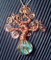 Bonsai tree pendant, no frame  wire pendant 206 by ~Kimantha333 on deviantART