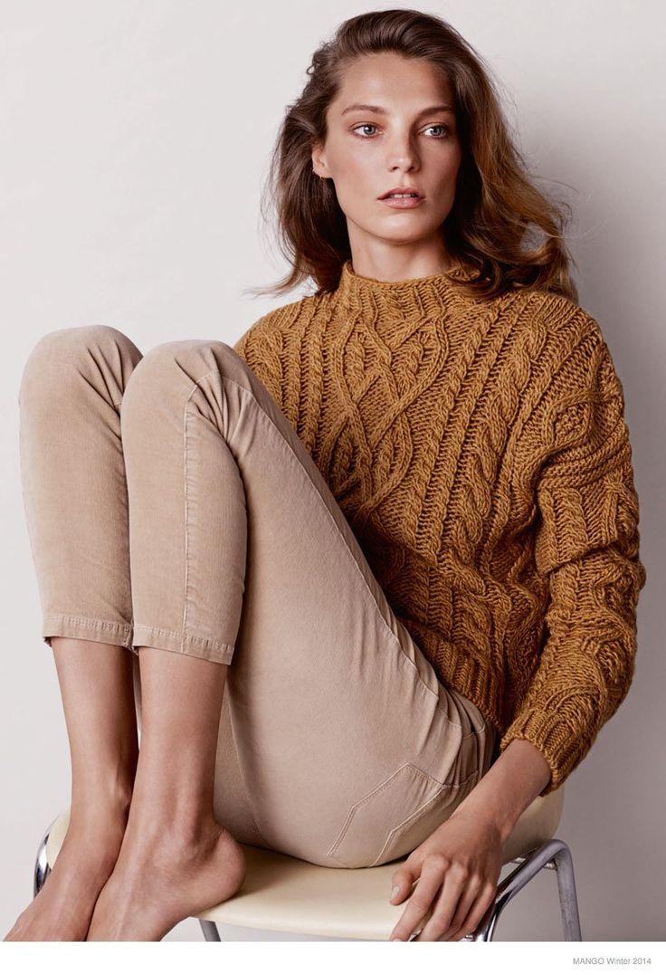 Daria Werbowy Stars in Mango Winter 2014 Catalogue