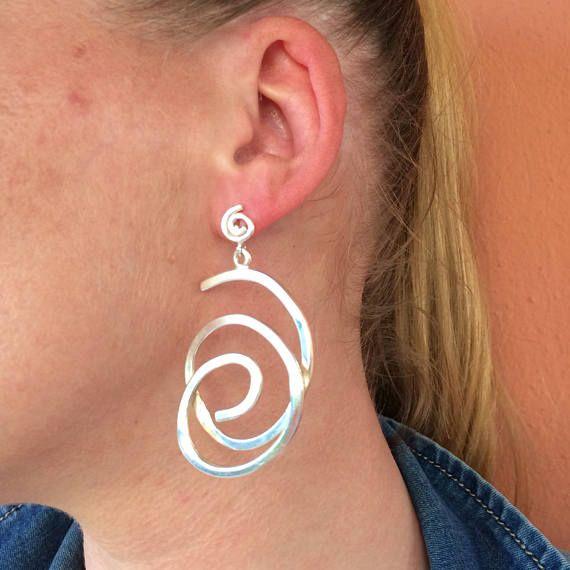 Long earring silver earrings impressive earrings