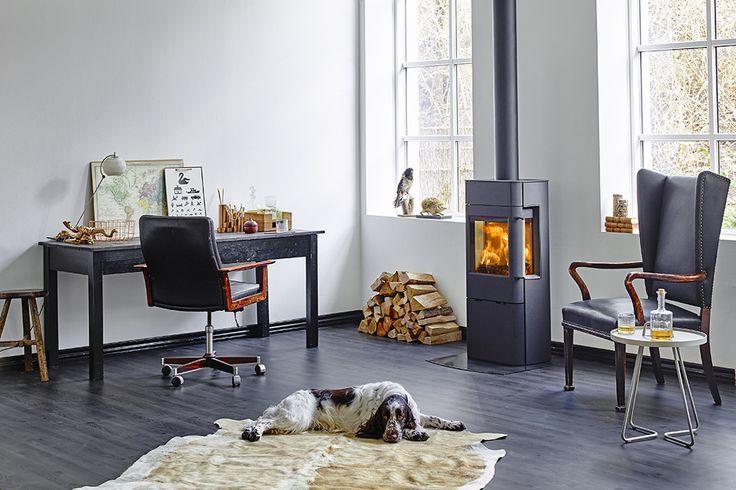 Poêle à bois nordique haute performance disponible chez http://atryhome.com #Scan #poêle #bois #chauffage #scan #chaleur #feu #rendement #stove #wood