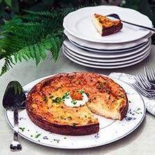LCHF- Västerbottenspaj - Recept - Tasteline.com