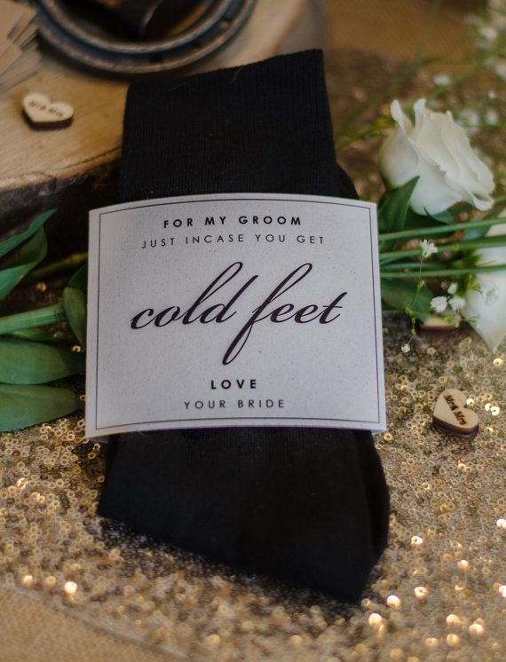 Black 'Groom' Wedding socks incase of cold feet With