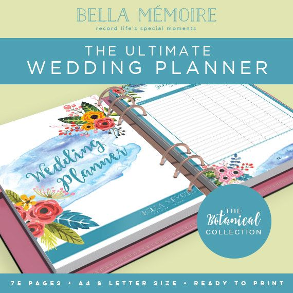 Printable Wedding Planner Botanical Collection // от BellaMemoire