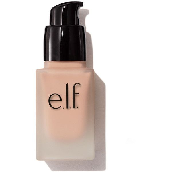 Oil Free Flawless Finish Foundation | e.l.f. Cosmetics ($6) ❤ liked on Polyvore featuring beauty products, makeup, face makeup, foundation and oil free foundation