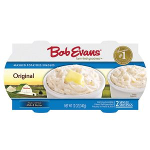Bob Evans Original Mashed Potatoes Single Serve -  Ready for a side of awesome?! Our Original Mashed Potatoes are made with real potatoes, cream, and butter, giving you the scoop of perfection your meal needs!