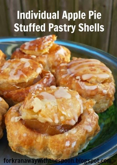 The Fork Ran Away with the Spoon: Individual Apple Pie Stuffed Pastry Shells