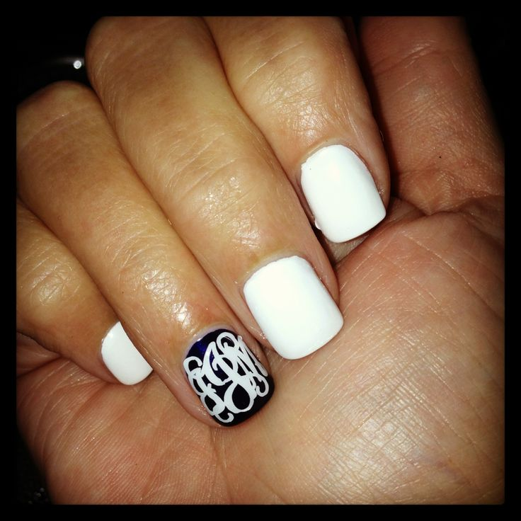 Just when I thought I couldn't put monograms anywhere else... Your nails!