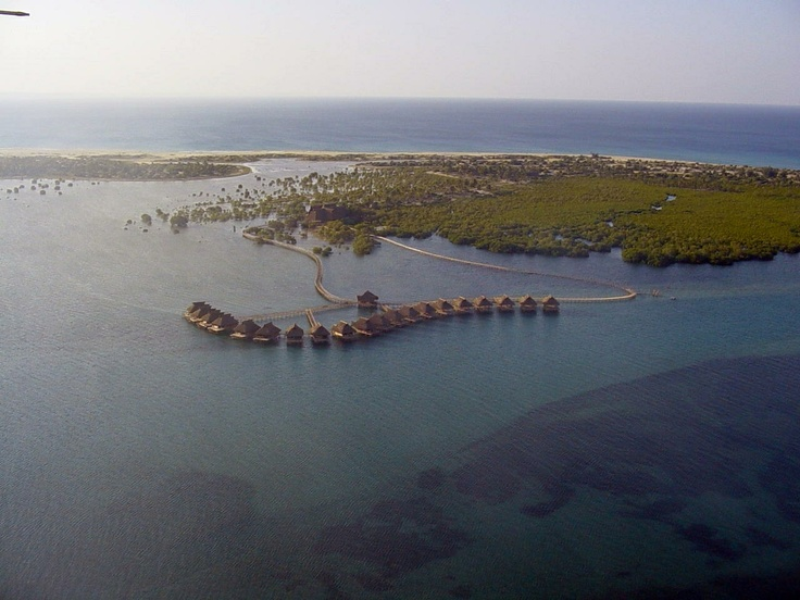 aerial view of flamingo bay lodge