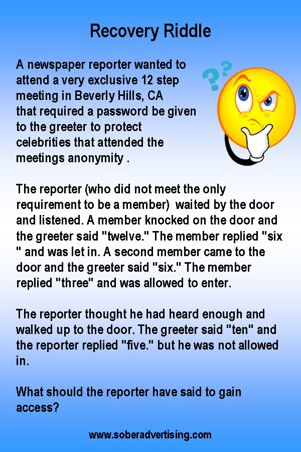 The newspaper reporter riddle! riddle Riddles, Riddles