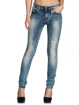 Jeans Diesel Women's Skinzee 0815N Blue #Diesel#Jeans