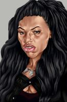 Alice this one was fun to do gonna try goin more extreme with distortions sounds like a fun good idea #babe #biglips #caricature #digitalart #digitalpainting #faceportrait #girl #portrait