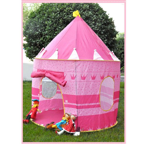 Fairy Princess Play House Portable Folding Tent Castle for Girls Kids Children