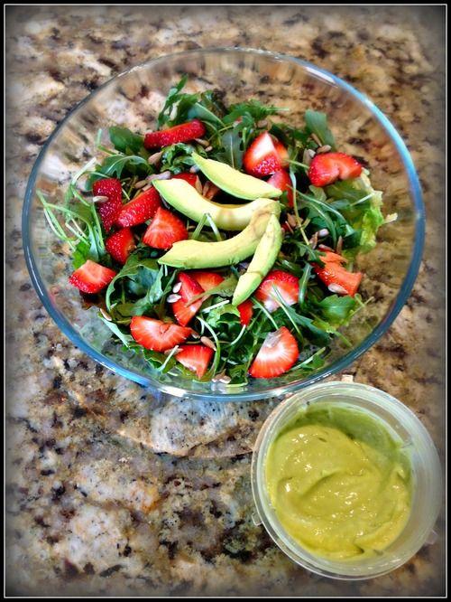 Arugula salad, Strawberries and Salads on Pinterest
