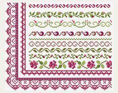 Cross Stitch patterns border  Counted cross от PatternsTemplates