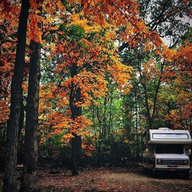 Happy #firstdayoffall! Perfect photo for the occasion by @dreamtimetraveler. #fall #rvlife #rvgems #homeiswhereyouparkit #rvliving #wanderlust #camp #fulltimerv #camplife #camping #travel #outdoors #nature #travelusa #wandering #offthegrid #campvibes #nomad #boondocking #roadtrip #motorhome #gorving #gypsy #autumn