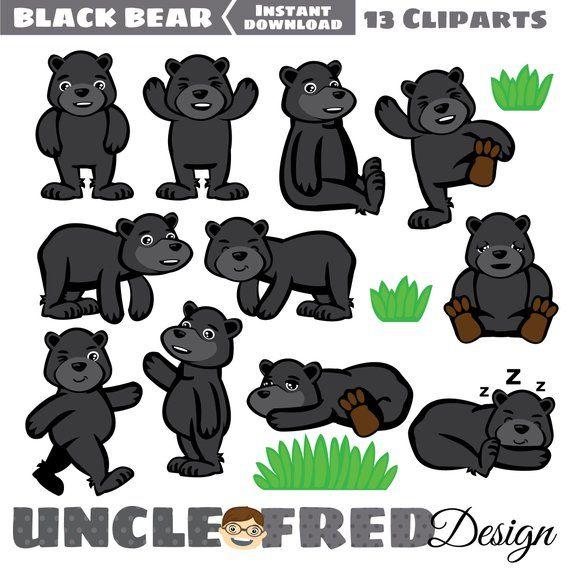 35+ Cute Black Bear Clipart