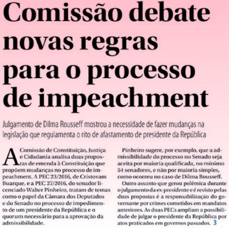 Teatro de Absurdos precisa de uma Reforma Geral [Jornal do Senado] ➤ http://www12.senado.leg.br/jornal/edicoes/2016/09/06/jornal.pdf#page=3 ②⓪①⑥ ⓪⑨ ⓪⑤ #Impeachment