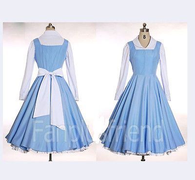 Beauty-and-The-Beast-Belle-cosplay-costume-Halloween-Custom-made