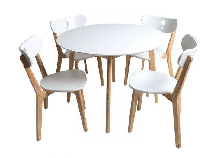 Ensemble Table Et Chaise De Cuisine Pas Cher Table Ronde Avec