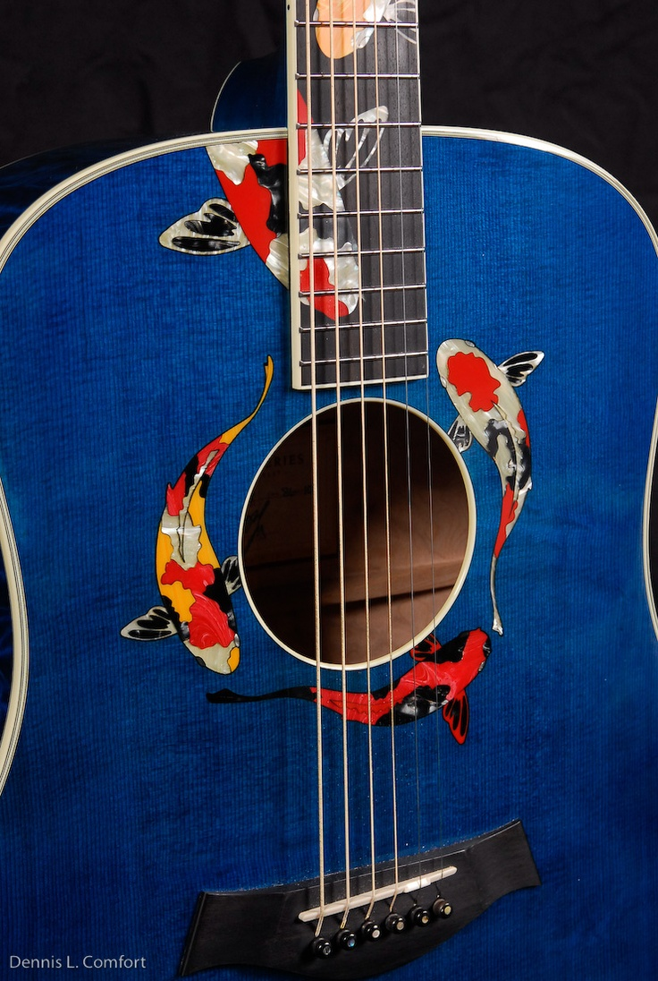 1000 images about inlays incrustations on pinterest for Koi fish guitar