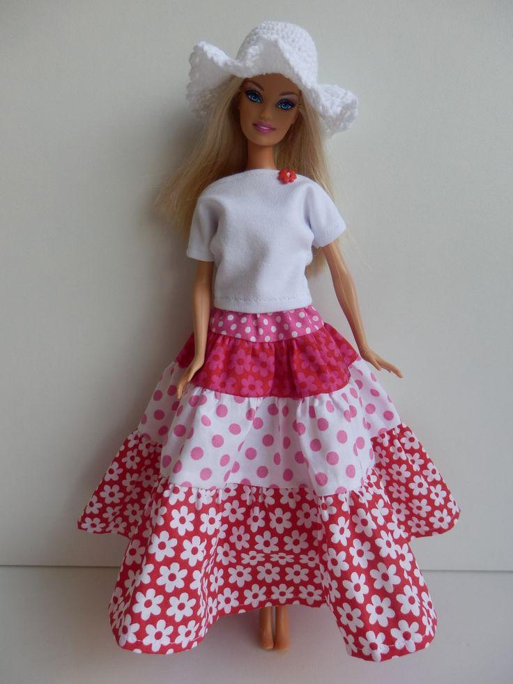 Set met zigeunerrok voor Barbie