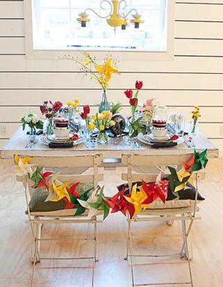la decoracin de mis mesas decoracion a base de molinillos de papel i