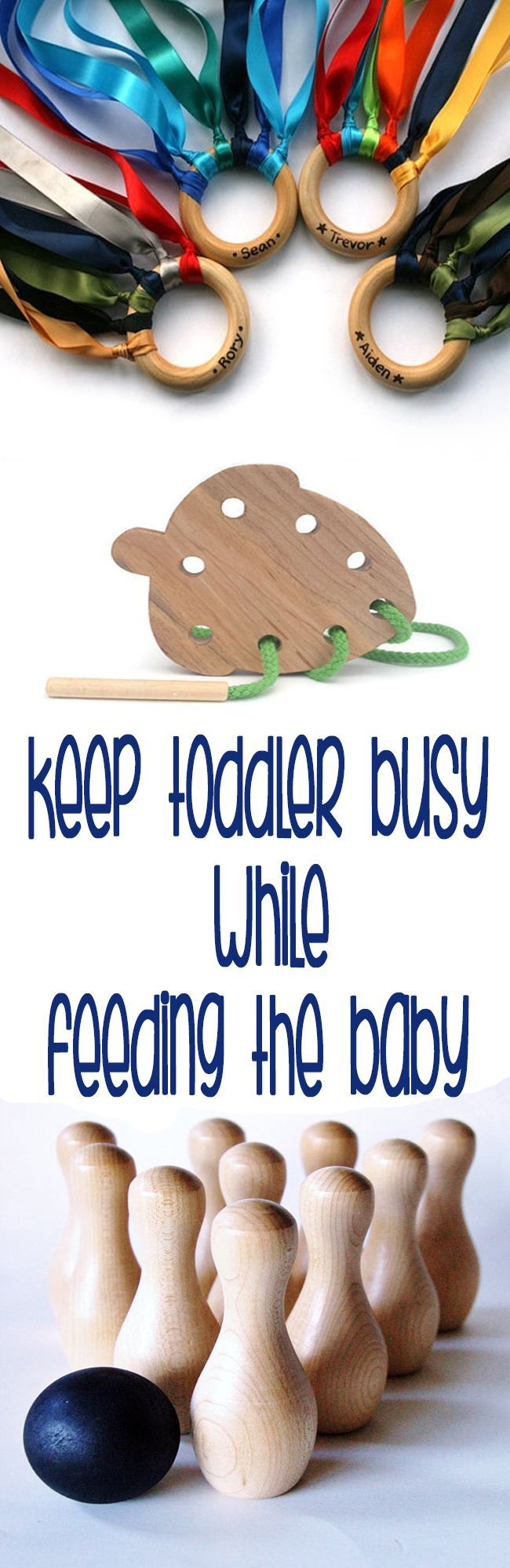 Feeding a baby can be difficult enough, but then throw in a toddler who wants to kiss baby, tickle baby's feet, or maybe even pinch baby can add a whole new level of difficulty. Here are a few ideas to help keep little one's hands (and minds) occupied while trying to feed the baby. This...