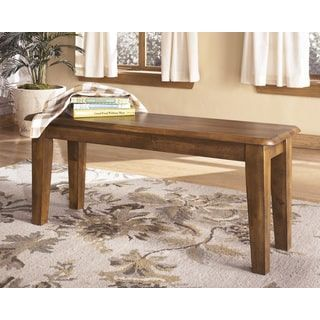 Shop for Signature Design by Ashley 'Berringer' Hickory Stained Large Dining Room Dining Bench. Get free shipping at Overstock.com - Your Online Furniture Outlet Store! Get 5% in rewards with Club O! - 16237314