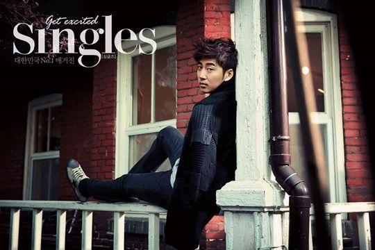 Yoon Kye Sang - Singles Magazine January Issue '14