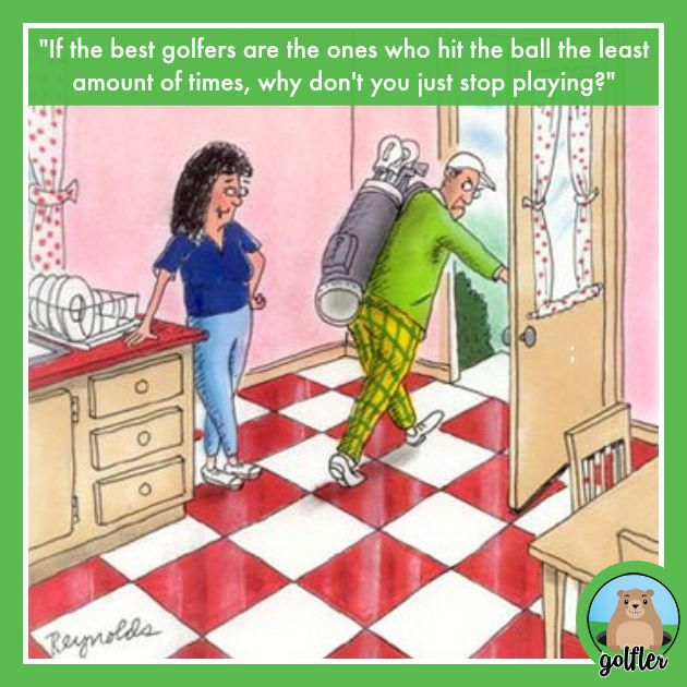 golf jokes humor funny cartoons slow quotes play pace ball golfers humour famous golfing disc sayings playing bottom tennis rock