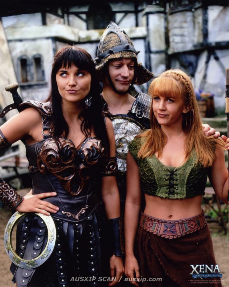 Xena: Warrior Princess, with Joxer and Gabrielle.  I named my dog Joxer the Mighty!