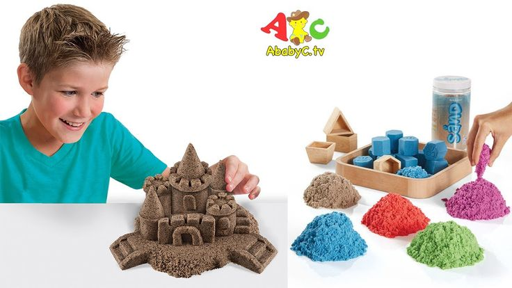 How to make Castle with Kinetic Sand with ABC Song - Unboxing Kinetic Sand