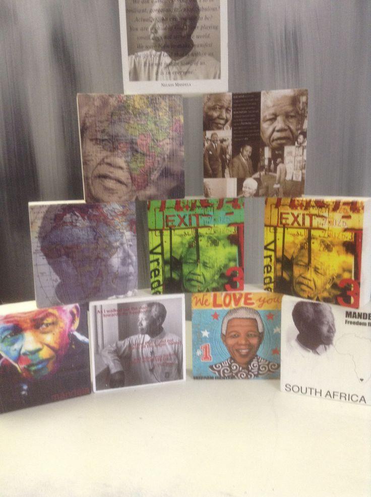 Mandela art blocks R250each