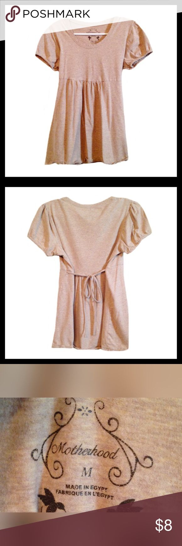 🎉 SALE 🎉.MOTHERHOOD MATERNITY Short Sleeve Shirt Gently used MOTHERHOOD MATERNITY short sleeve shirt; Ties in the back; Size medium.  *******BUNDLE AND SAVE ********* Motherhood Maternity Tops Tees - Short Sleeve