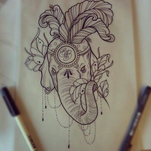 Love this Elephant with the headdress