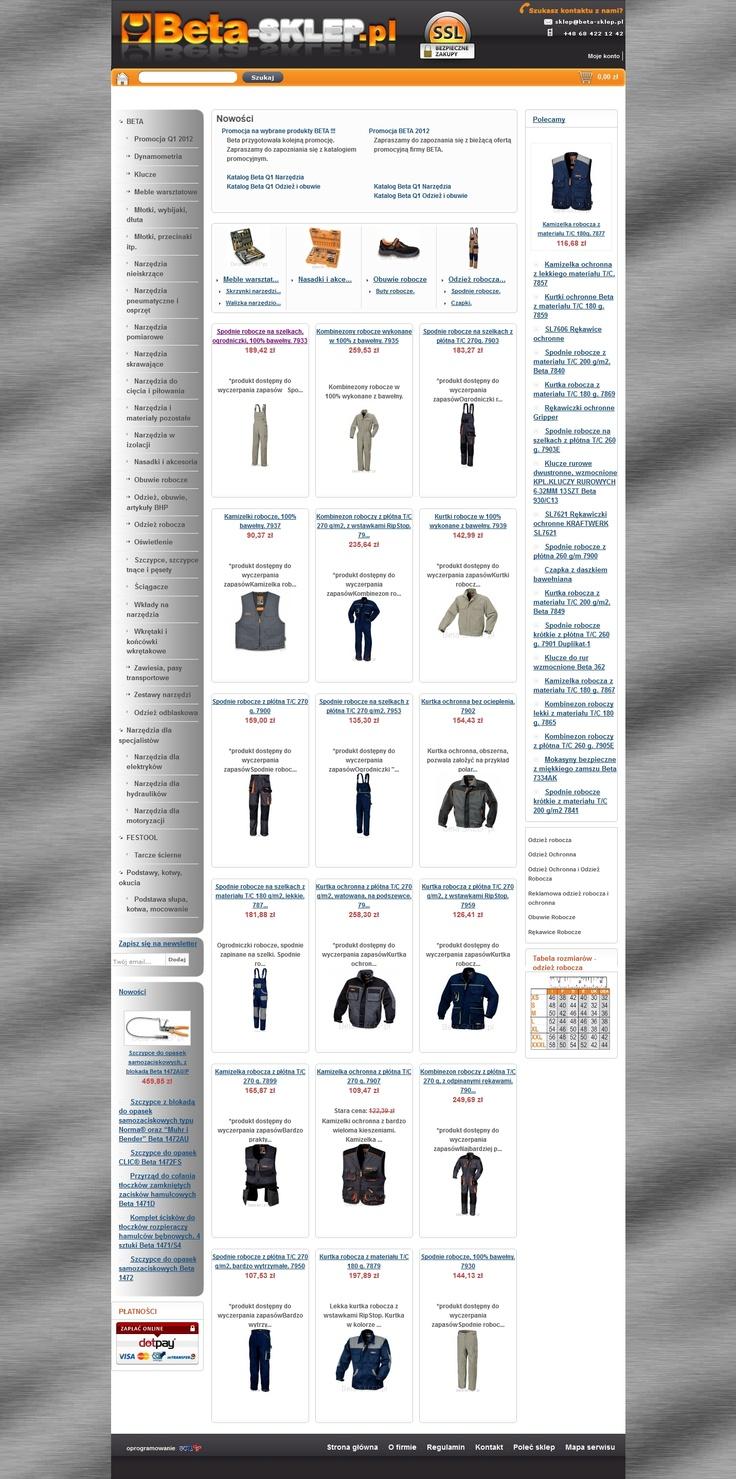 Beta-Sklep.pl to jeden z pierwszych założonych przez nas sklepów internetowych. Bardzo dobrze funkcjonuje, wciąż go ulepszamy i unowocześniamy.   Zapraszamy na zakupy, nie tylko fanów sprzętu do majsterkowania ;-)